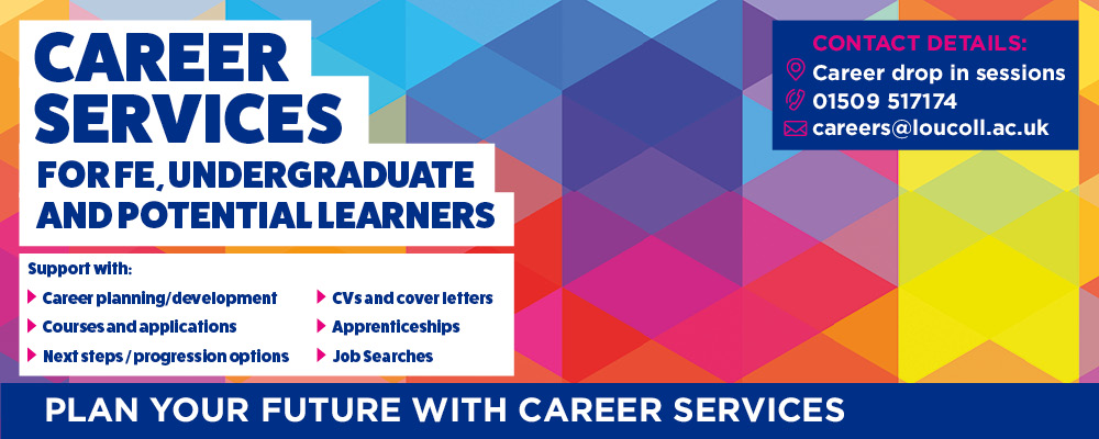 Careers Service for FE, Undergraduate and Potential Learners - Plan your future with our careers services