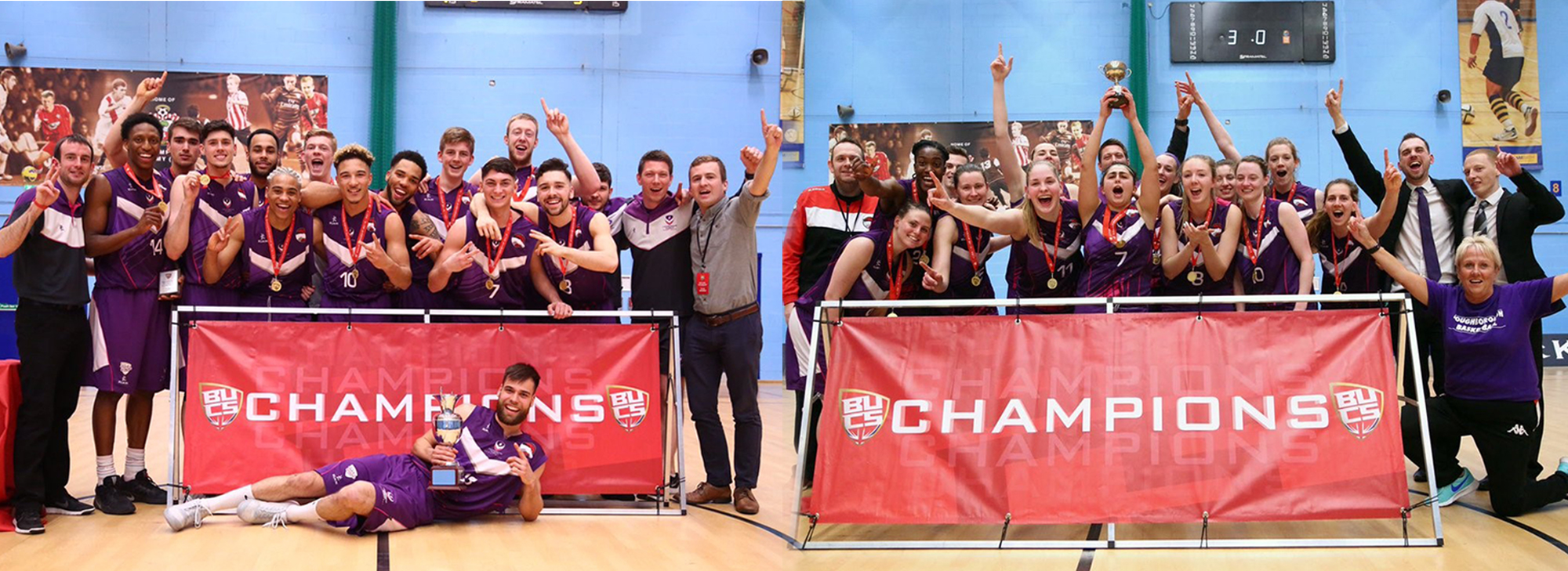 Loughborough College help Basketball Men and Women make it a double Championship win for first time ever