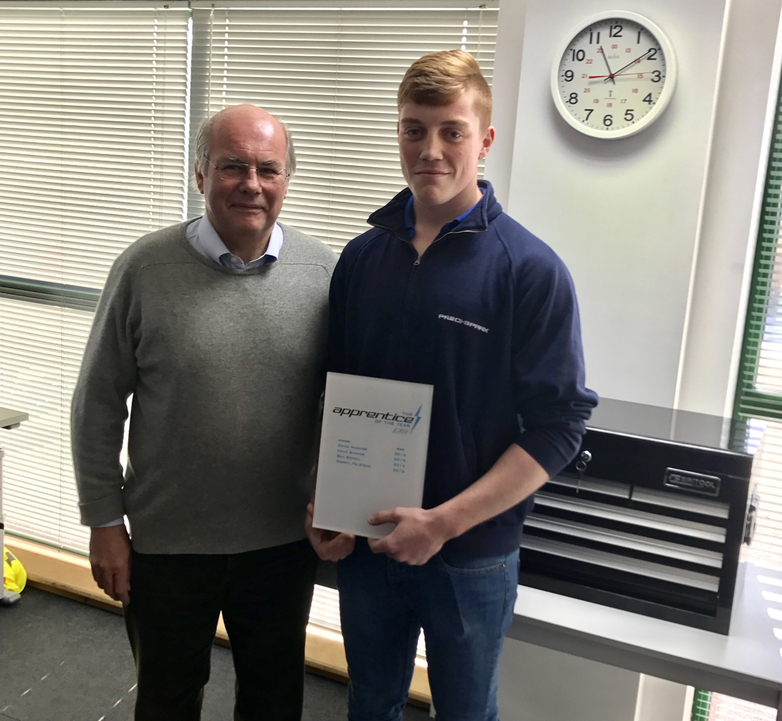 Leading high tech manufacturer presents top award to Loughborough College apprentice