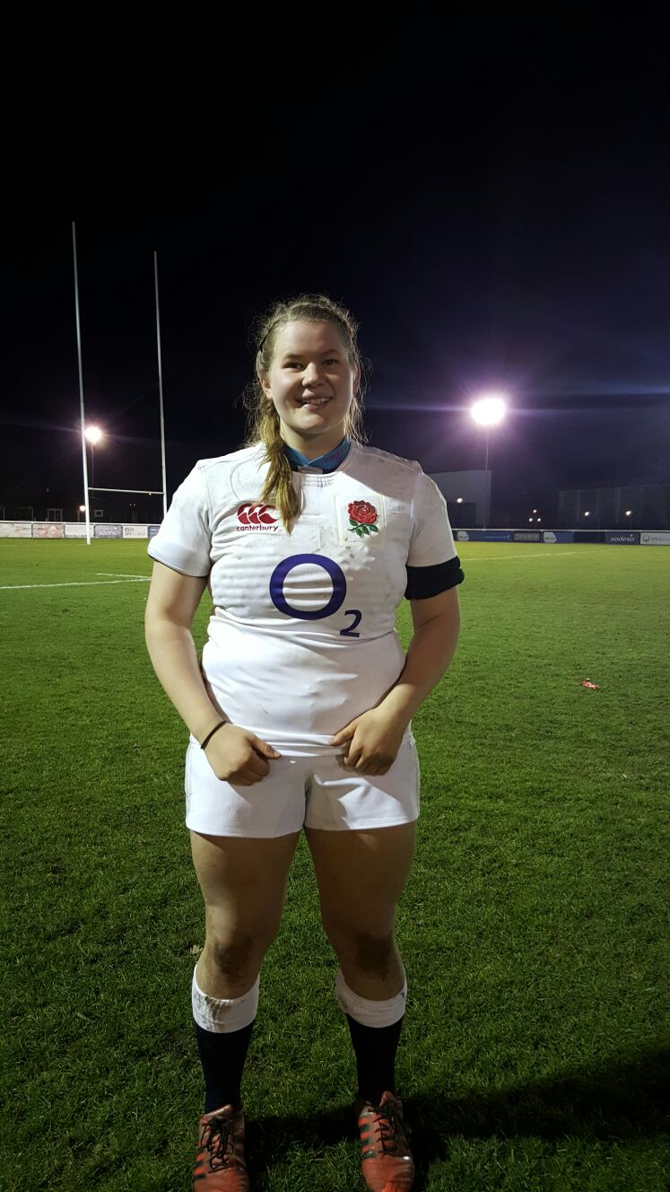 First England cap for Loughborough College rugby player Leah Bartlett