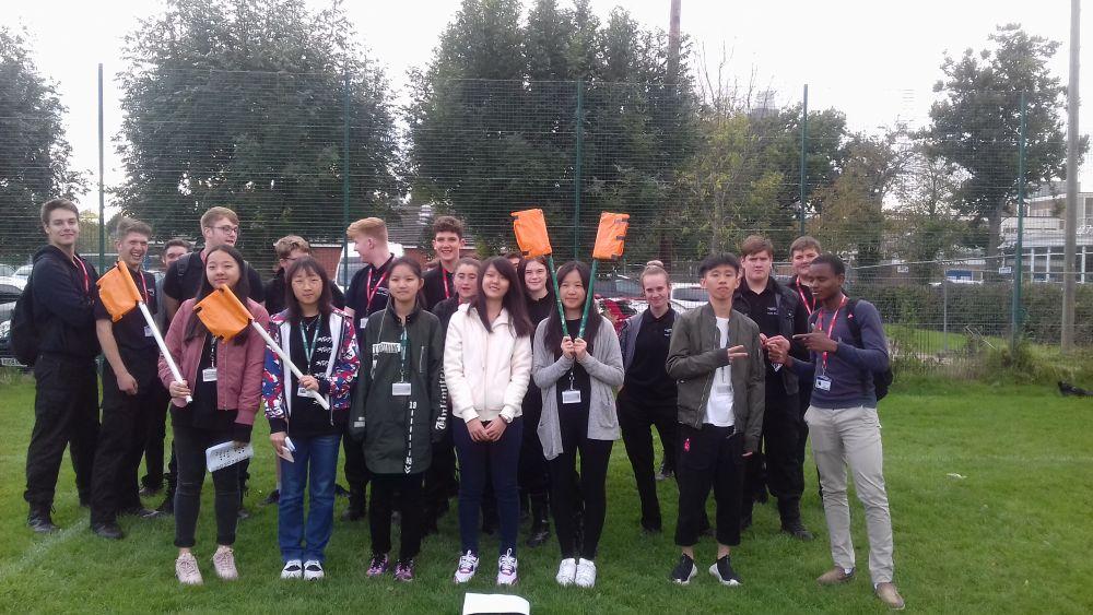 Loughborough College students raise flag for international communications