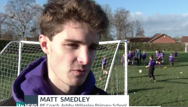 ITV features sport teacher from Loughborough College who has hit the headlines
