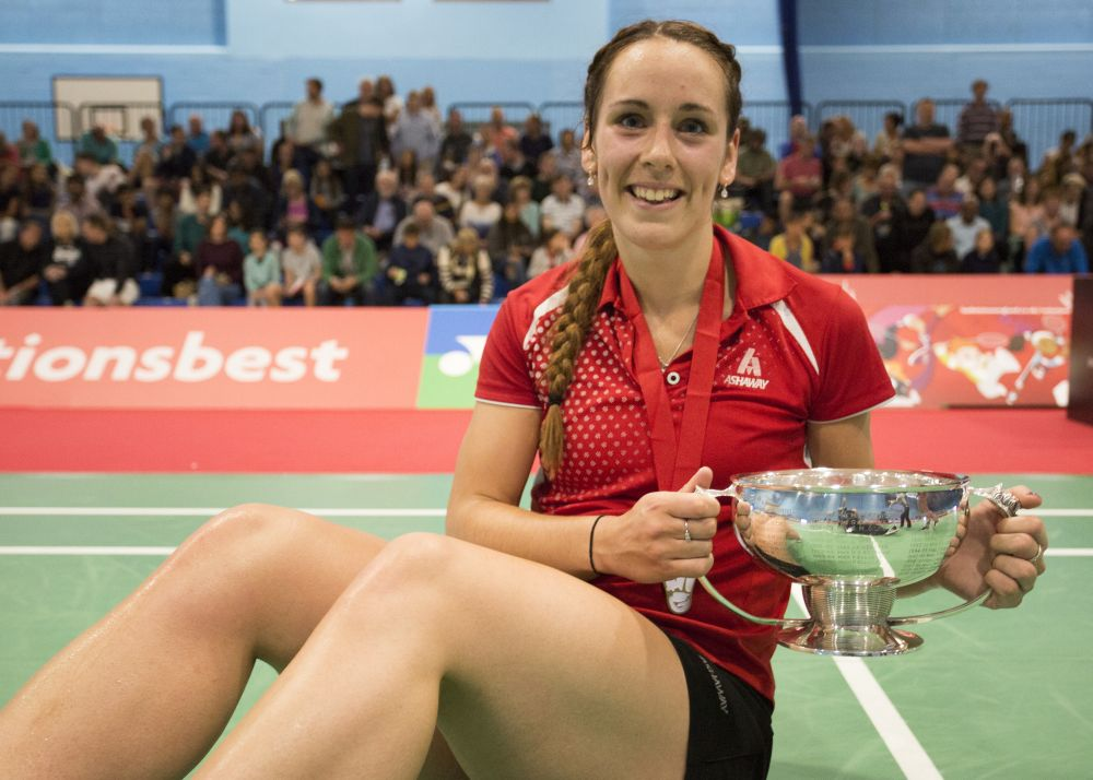 Loughborough College celebrates 2017 National Badminton Championships win