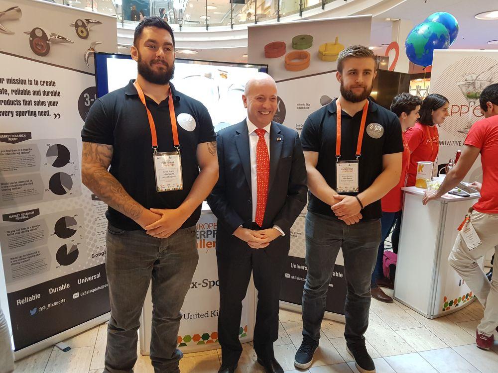 Loughborough College UK 2017 enterprise title winners line up for European finals in Helsinki