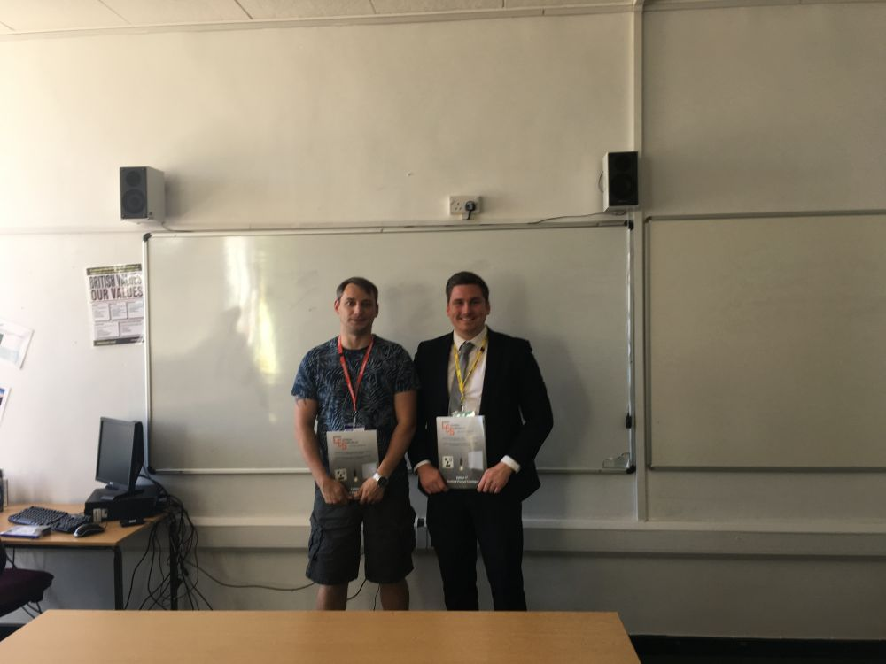 Industry partner presents electrical engineering student of the year award at Loughborough College
