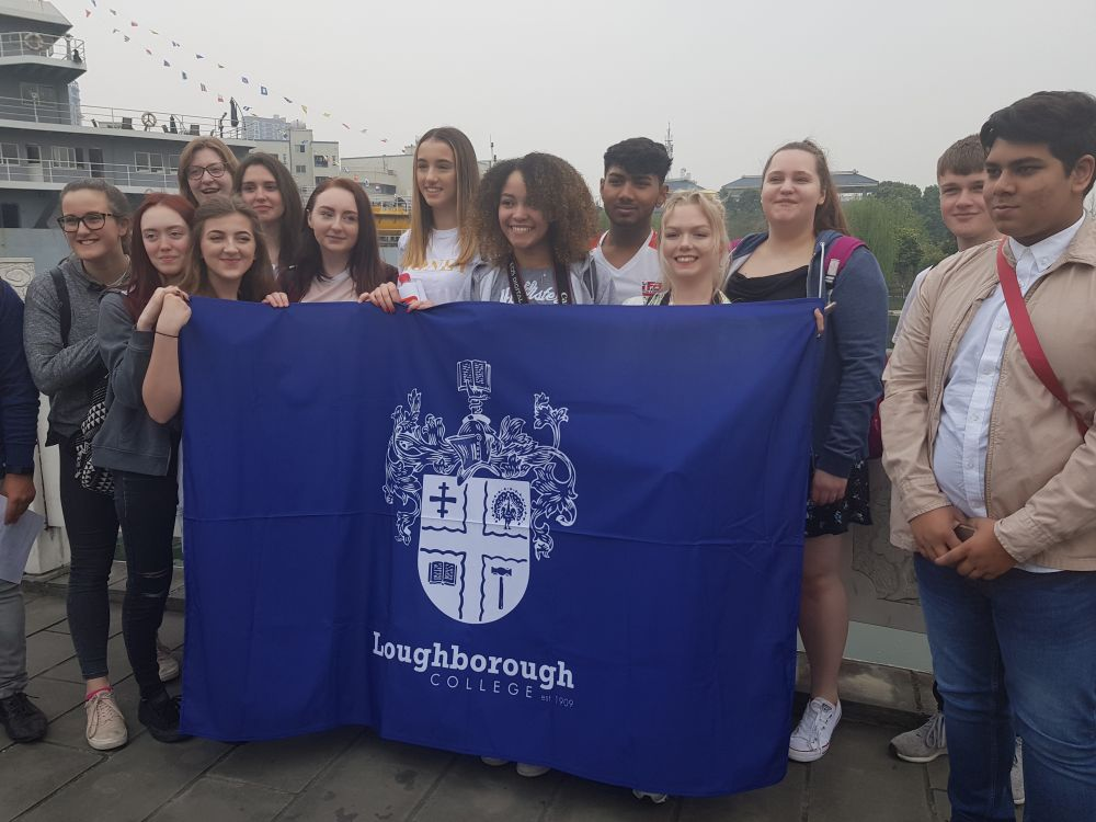 Loughborough College students receive warm welcome in China
