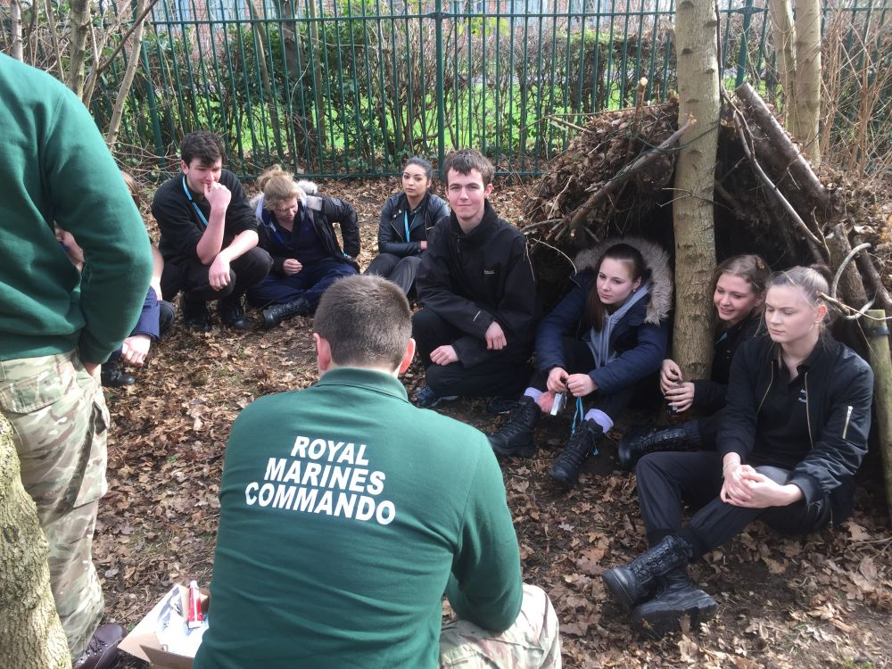 Royal Marines visit inspires Loughborough College students