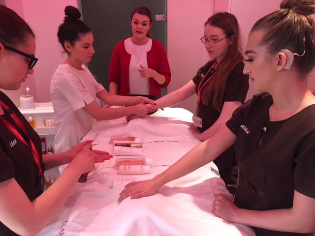 Worldwide beauty brand training for Loughborough College students