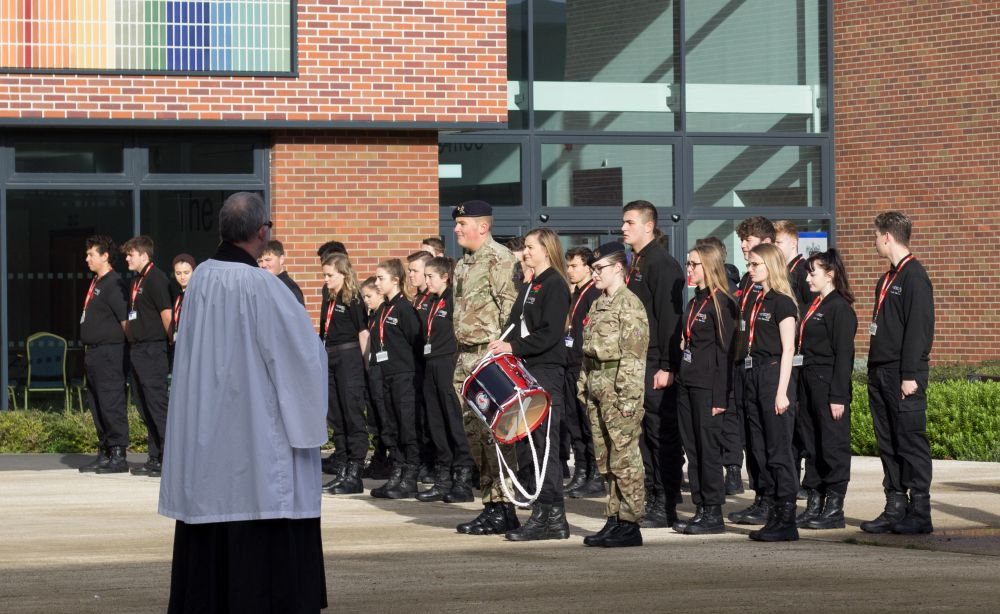 Students lead Armistice Day remembrance at Loughborough College