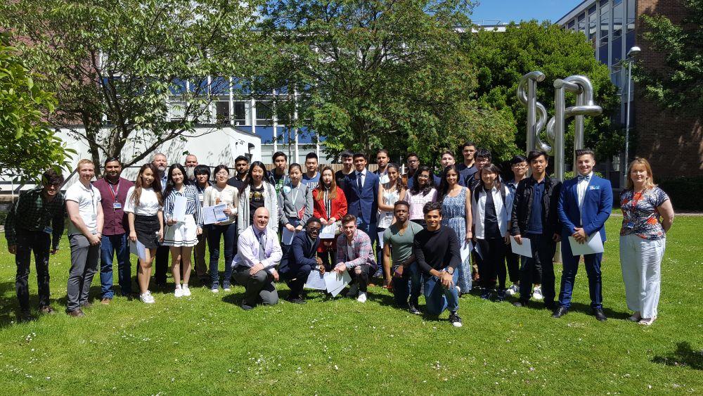 Loughborough College International students celebrate success