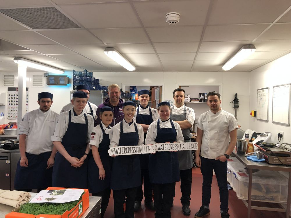 BBC live at Loughborough College as students help kick off new superfood trend