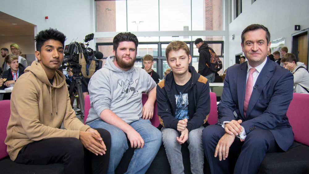 Sky News talk politics with Loughborough College  students