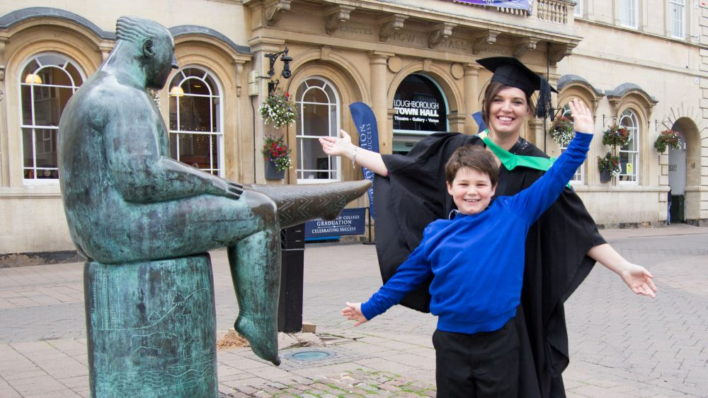 Samantha graduates from Loughborough College with hope of inspiring others