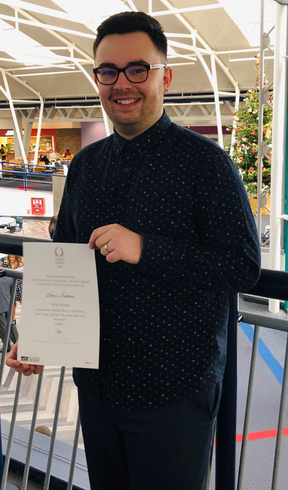 Prestigious university academic excellence award presented to Loughborough College student